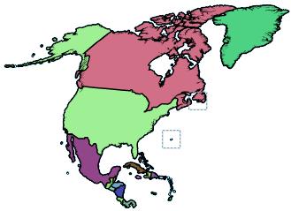 amerika in kaart